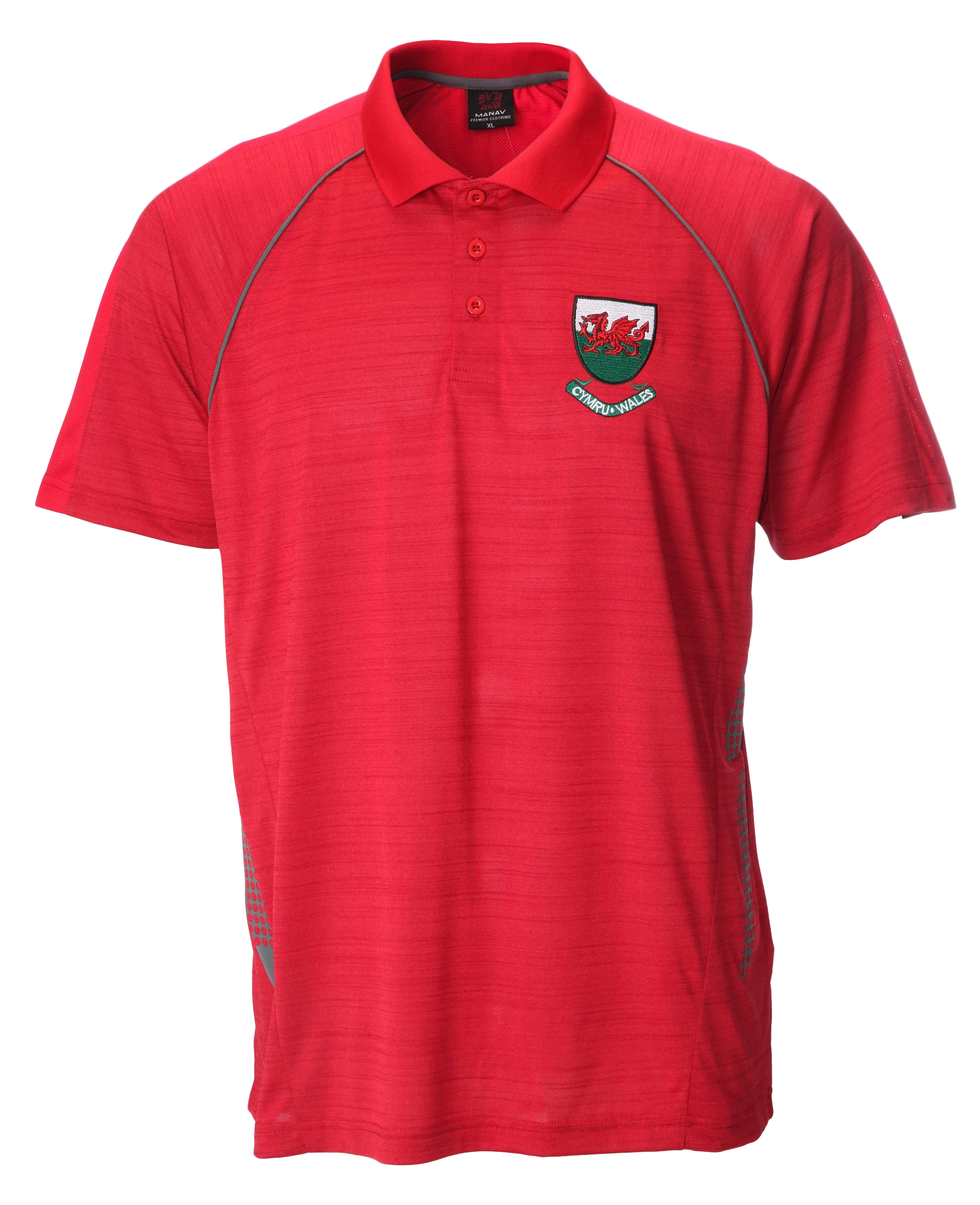 Ceri Red Flek Cool Dry Polo