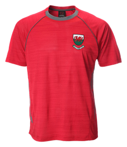 Ceri Red Flek Cool Dry T-Shirt