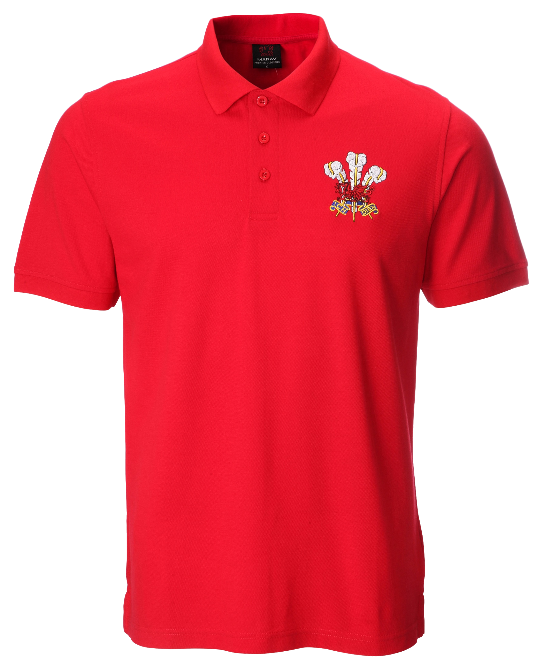 David Basic Red Polo