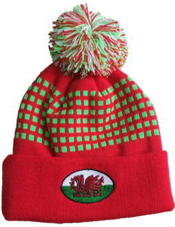 Welsh Rugby Ball Bobble Hat