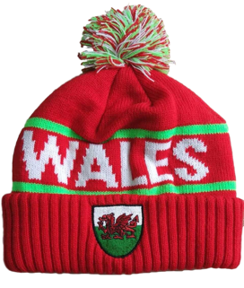 Welsh Rugby Shield Bobble Hat