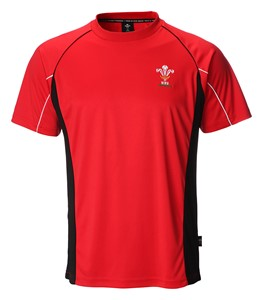 Mens Official WRU Welsh Rugby Cooldry T-Shirt