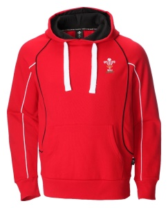 Mens Official WRU Welsh Red Rugby Hoodie