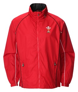 Childrens Official WRU Welsh Red Waterproof Jacket