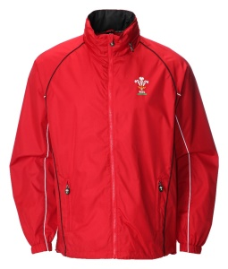 Mens Official WRU Welsh Red Waterproof Jacket