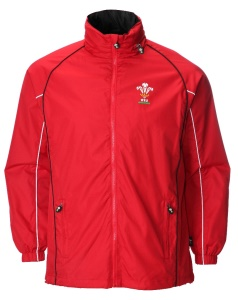 Ladies Official WRU Welsh Red Waterproof Jacket