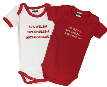 Baby Nappy '50% English 50% Welsh' Vest