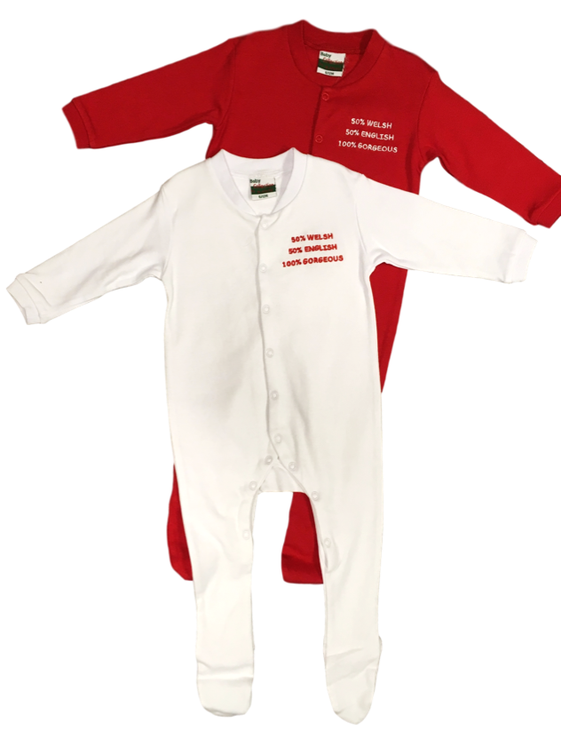 Baby Welsh 50% Sleepsuits