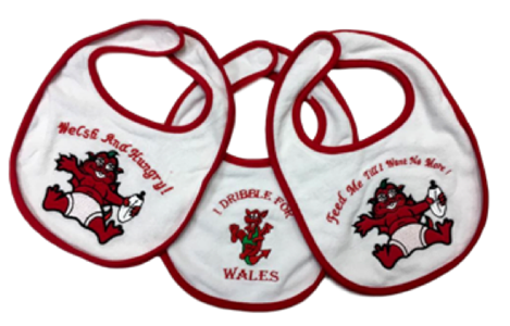 Welsh Embroidered Baby Bib - 3 pack