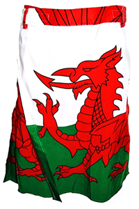 Mens Welsh Flag Kilt