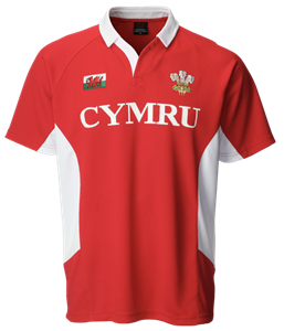 Colyn Collar Red Rugby Shirt
