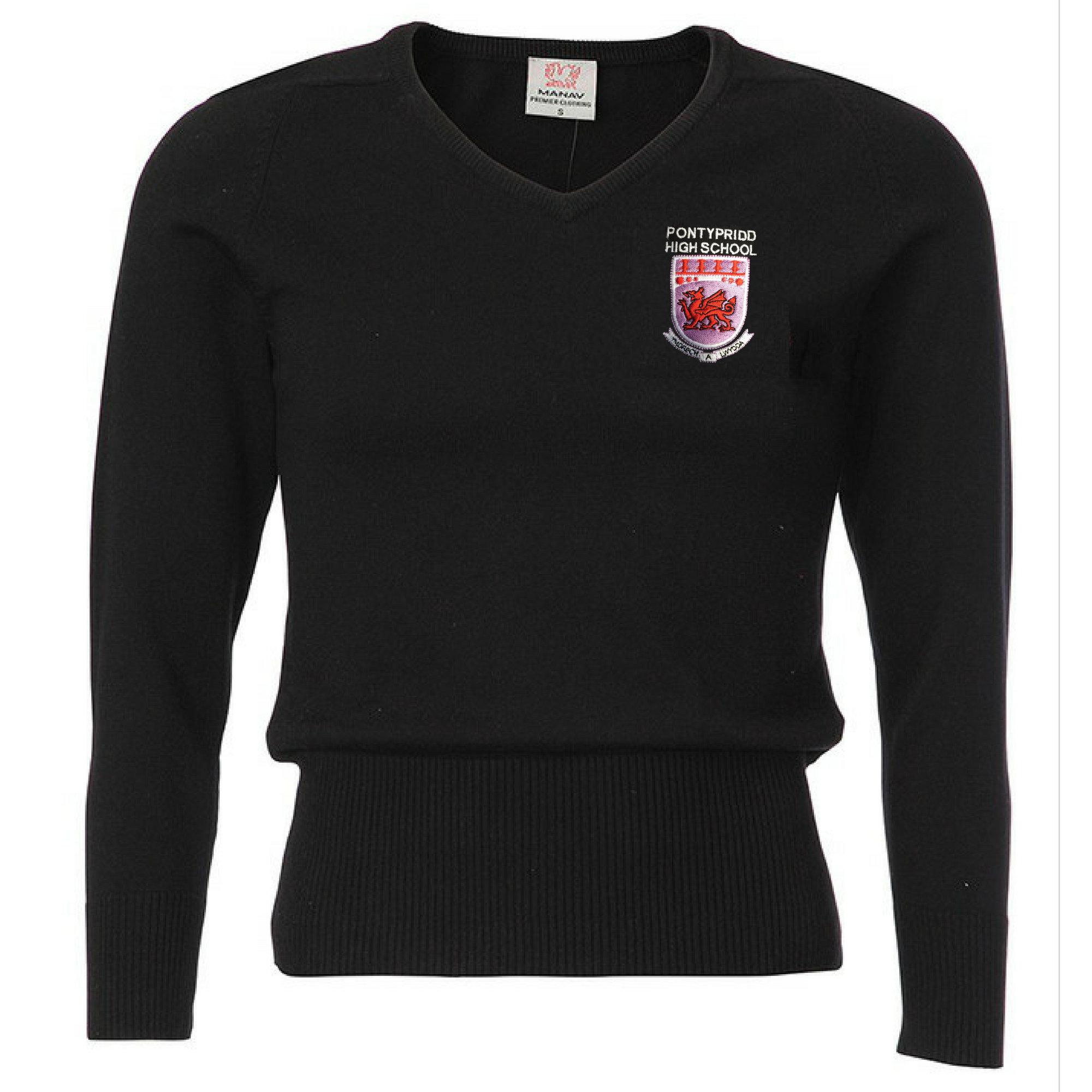 Pontypridd High School Girls V-Neck Jumper
