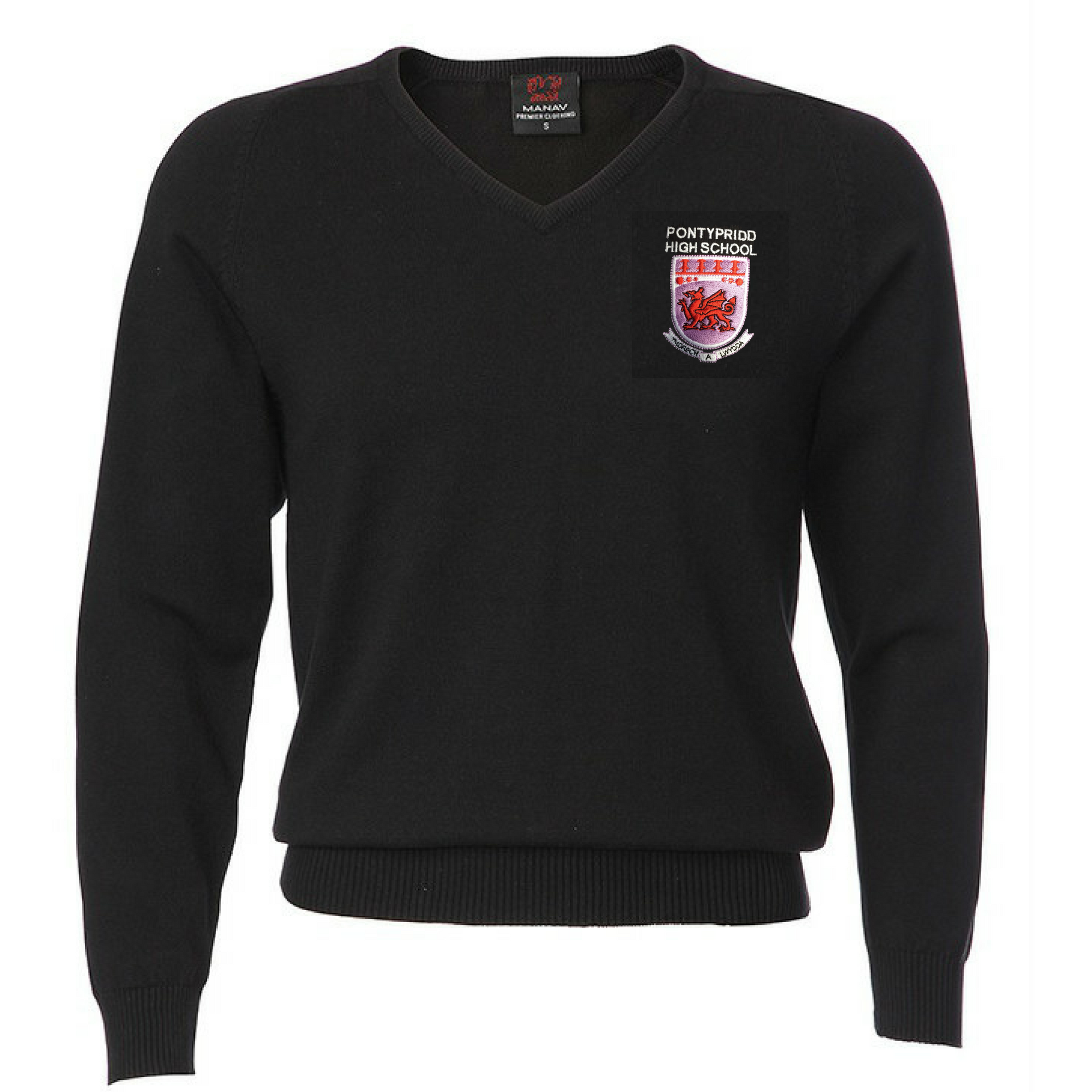Pontypridd High School Boys V-Neck Jumper