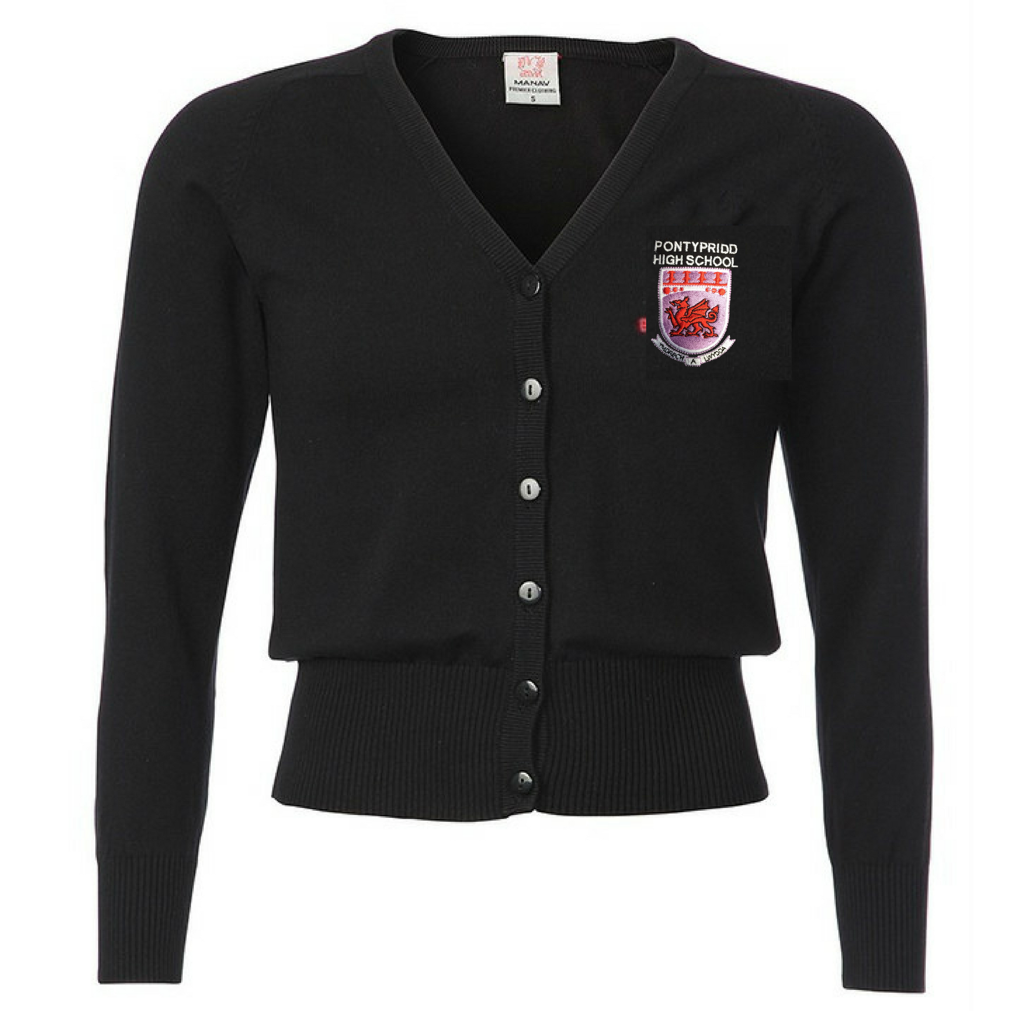 Pontypridd High Girls Black Cardigan