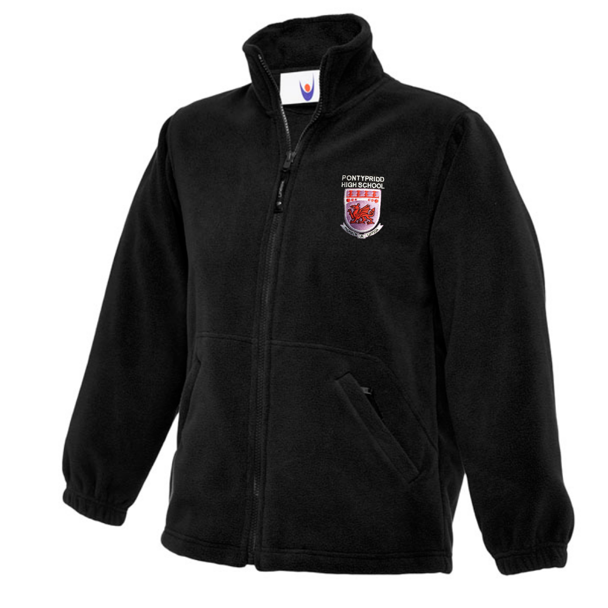 Pontypridd High Black Fleece Jacket