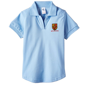 Bryn Celynog Comprehensive Girls Fitted Sky Blue Polo Shirt