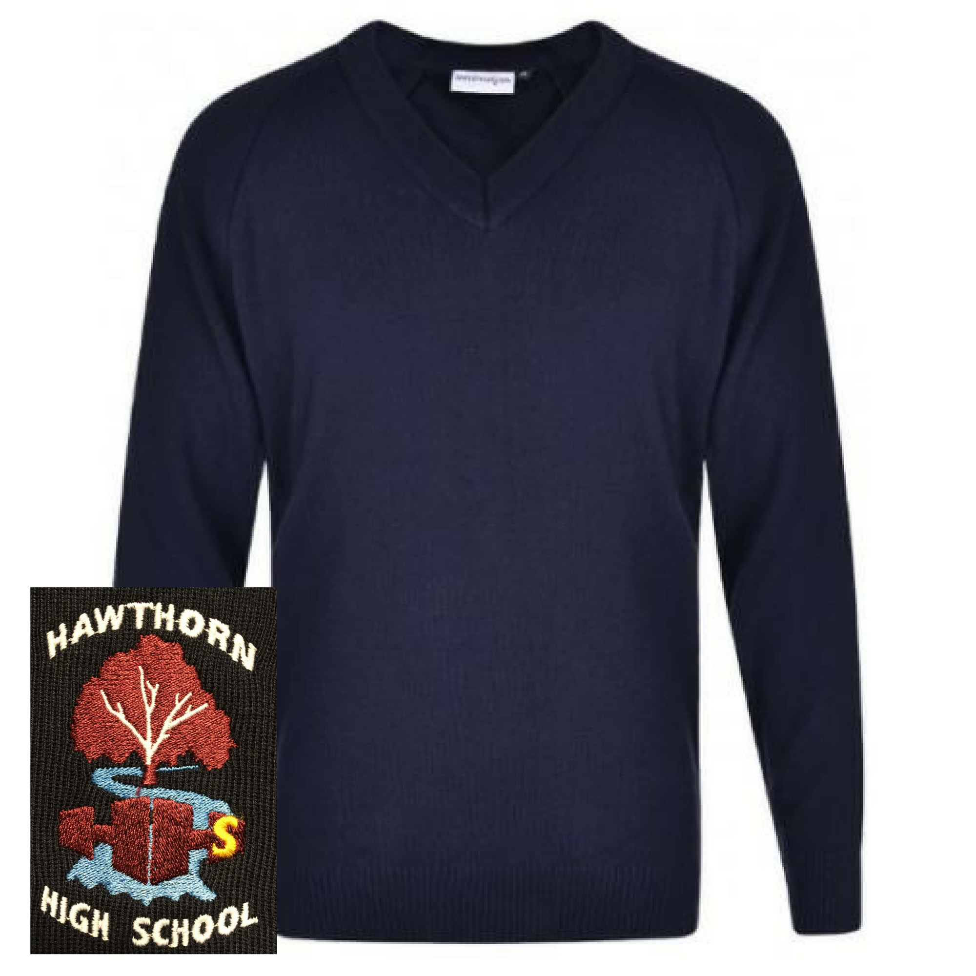 Hawthorn High School Navy Unisex V-Neck Jumper (Yr 7-8)