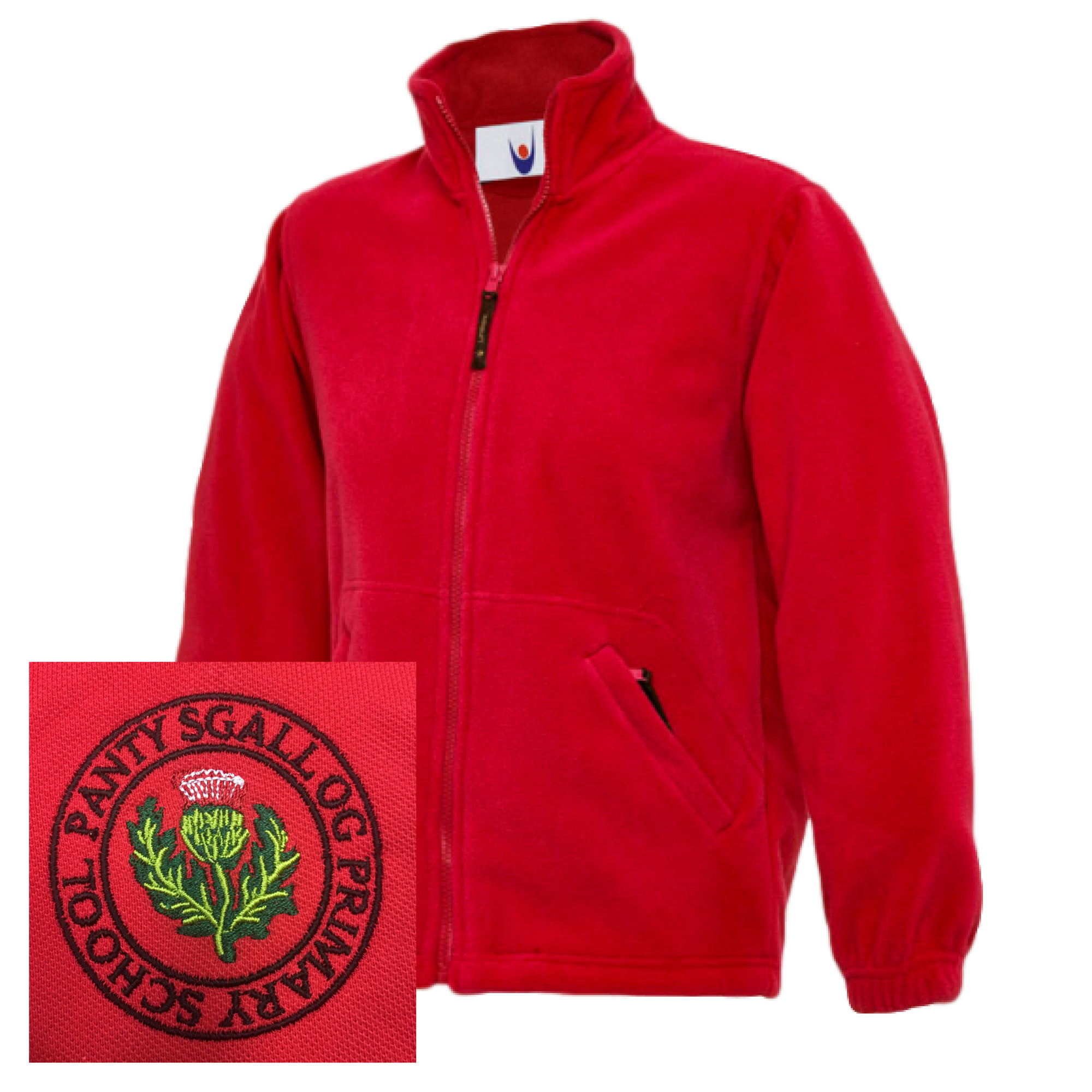 Pantysgallog Primary Red Fleece Jacket