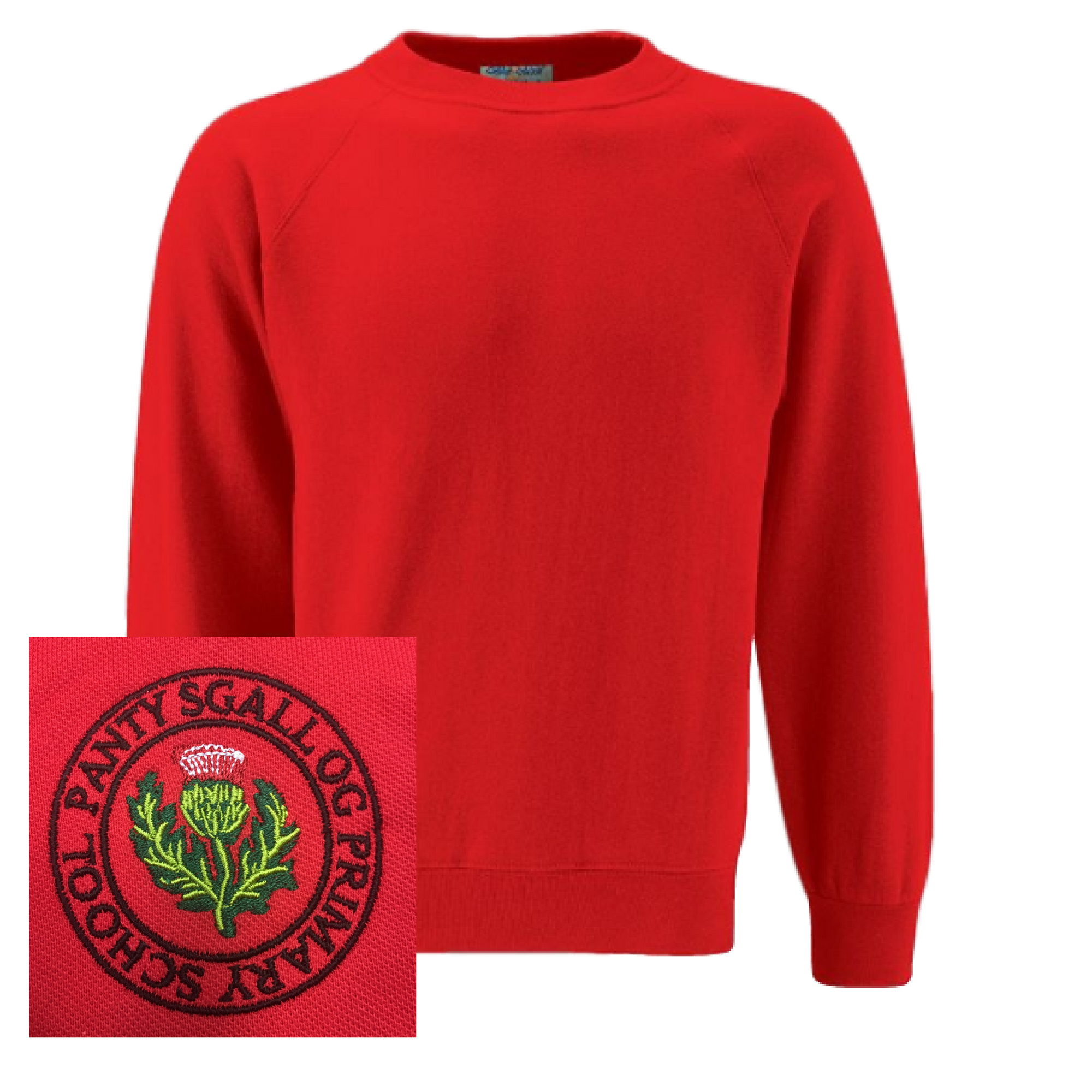 Pantysgallog Primary Red Sweatshirt