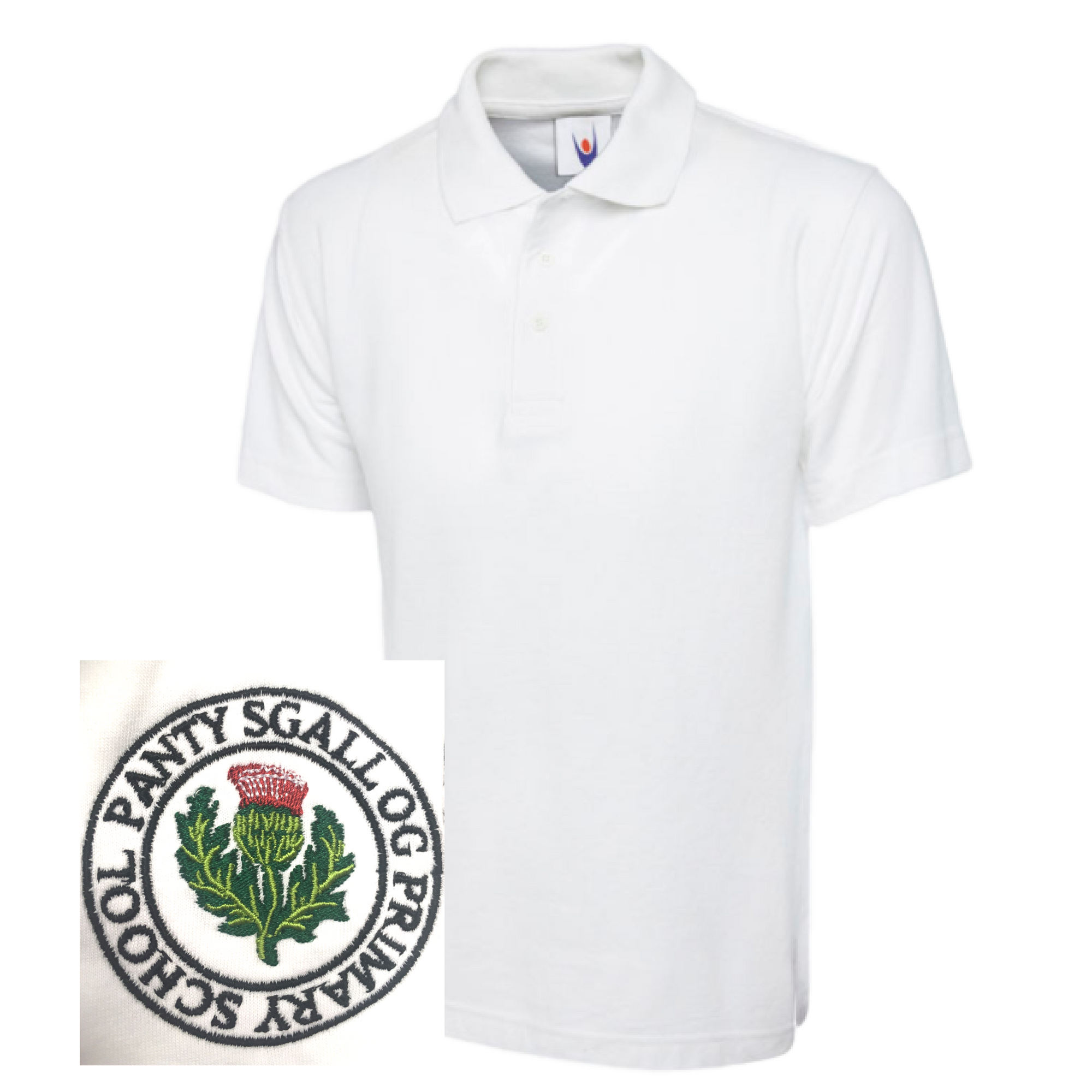 Pantysgallog Primary White Polo