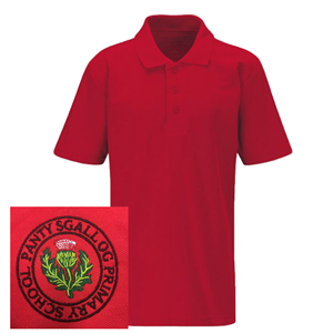 Pantysgallog Primary Red Polo