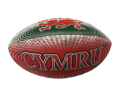 Wales Size 4 Hand Stitched Rugby Ball