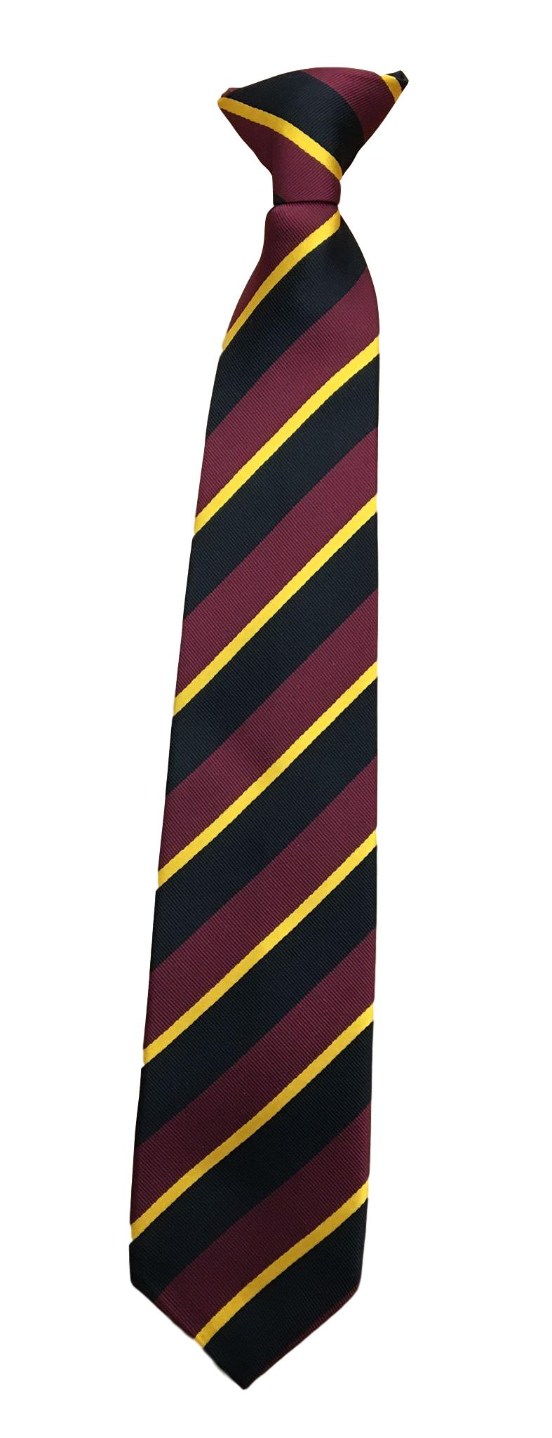 Hawthorn High School Black Clip On Tie (Years 9-11)