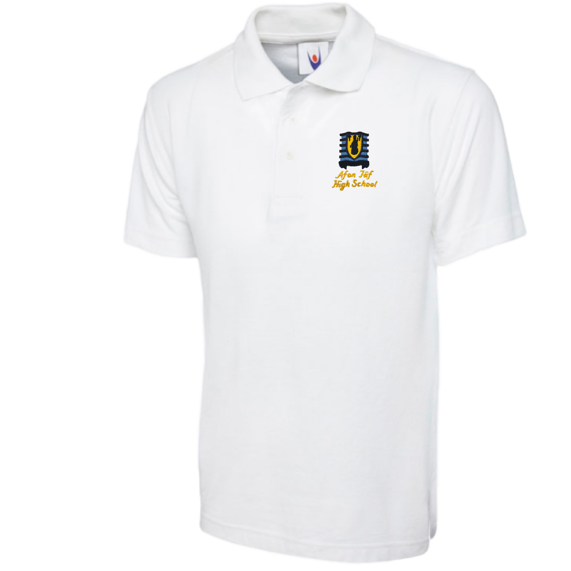 Afon Tâf High School White Polo Shirt