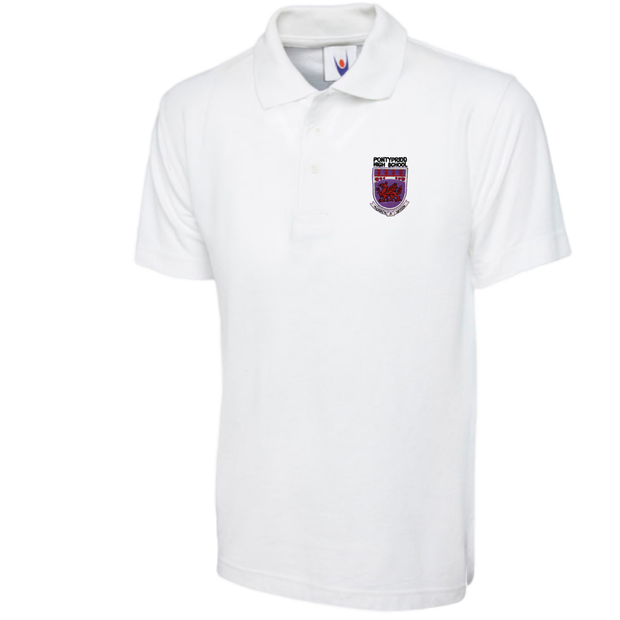 Pontypridd High School White Polo Shirt