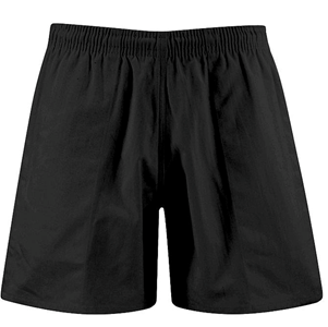 Plain Black Sports Shorts
