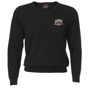 Mountain Ash Comprehensive School Boys V Neck Black Knit Jumper