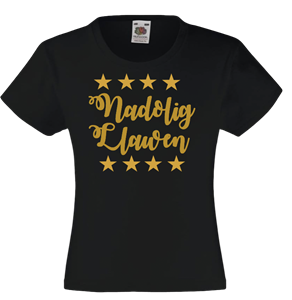 Ladies Nadolig Llawen T-Shirt- Seren Star