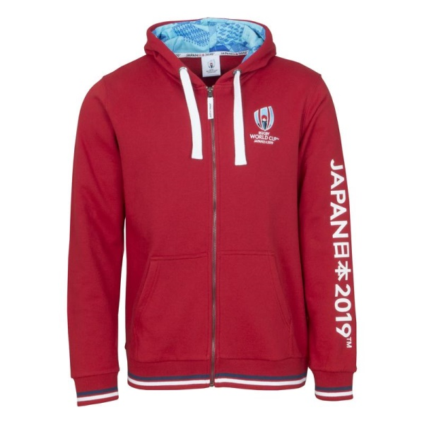 Rugby World Cup 2019 Red Zip Hoodie