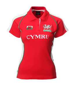 Ladies Fashion Cymru Rugby Shirt (Printed)