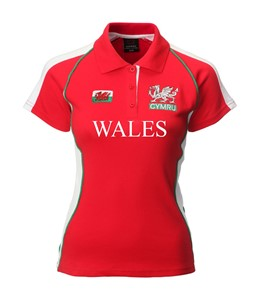 Ladies Fashion Wales Rugby Shirt (Printed)