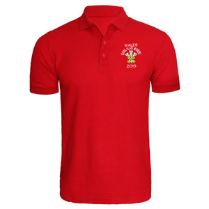 ** GRAND SLAM 2019 WALES POLO SHIRT - NO PRINT**