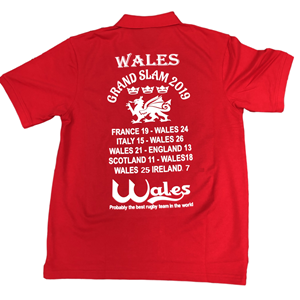 ** GRAND SLAM 2019 WALES POLO SHIRT **