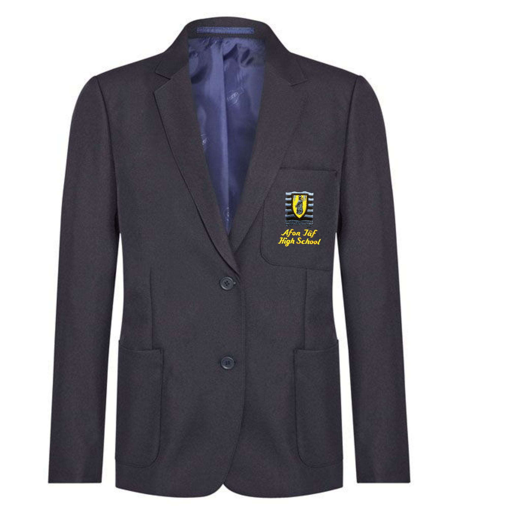 Afon Tâf High School Girls Navy Blazer