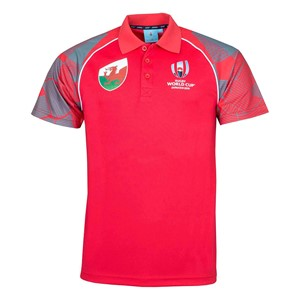 Rugby World Cup 2019 WALES Rugby Poly Supporter Polo