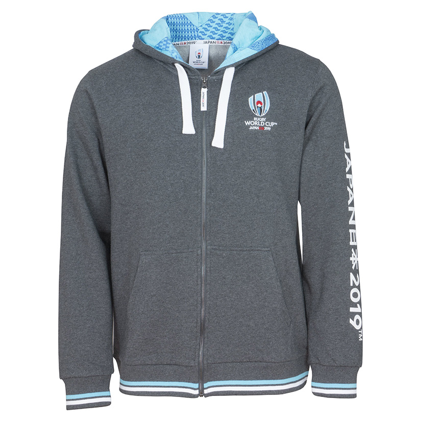 Rugby World Cup 2019 Grey Zip Hoodie