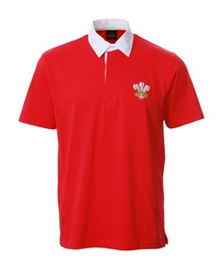 Basic Short Sleeve Traditional Welsh Rugby Shirt