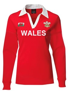Hannah Ladies Long Sleeve Welsh 'WALES' Rugby Shirt